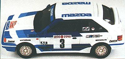 1//43 Mazda 323 Turbo Rally Montecarlo 1989 De Mevius Kit